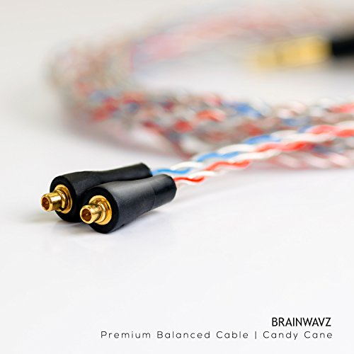 Mmcx Gps Antenna (Brainwavz 2.5mm Balanced Earphone Replacement Cable with MMCX Connectors (Premium Candy Cane))