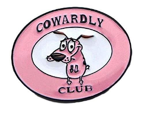 Main Street 24/7 Cowardly Dog Club Cartoon Enamel Metal Logo Pin -