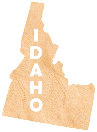 aMonogram Art Unlimited State Of Idaho Wooden Shape With State Name and 1/4 Burch plywood Wall Decor, 24''