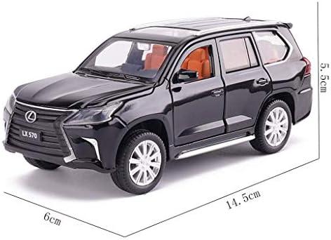 YN モデルカー ブラックモデルカーレクサスLX70合金モデル1:32スケールモデルダイキャストモデルスタティックモデル玩具モデルコレクションギフト ミニカー