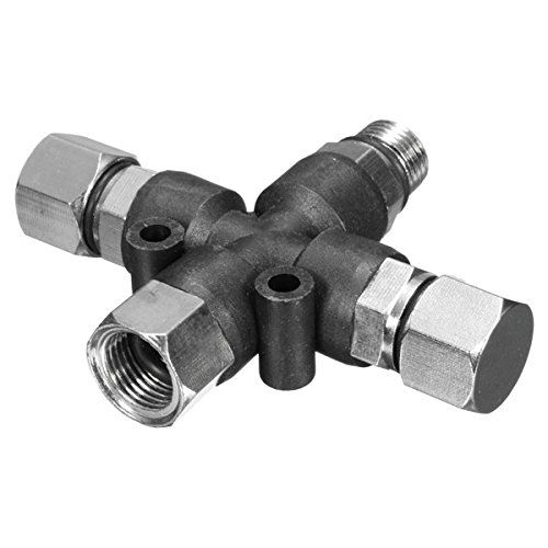ChaRLes 3 Way 1/8 Inch Airbrush Air Hose Manifold Adaptor Splitter Tattoo Spray Connector