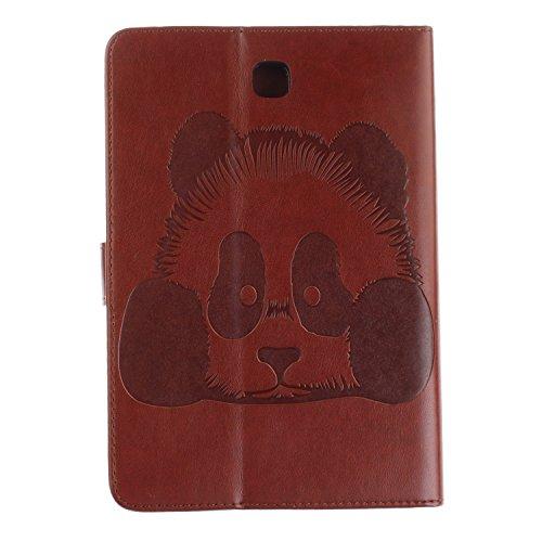 JIALUN-Personality teléfono shell Para Samsung Galaxy Tab S2 8.0 pulgadas T710 T715 T715C Funda de la caja, Horizontal Flip Funda de la cartera Folio Funda de cuero premium de la PU con relieve Textur Brown