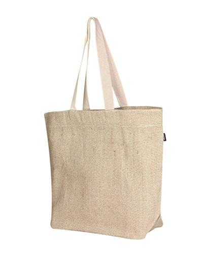 Eono 100 Beige ecológica grande al crudo reutilizable algodón nbsp; Essentials y hombro de yute Blanco Naturel Bolsa rXwqZF7xEr