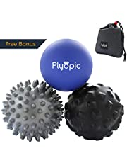 Top 3 Massage Balls Set – Lacrosse, Spiky and Foam Roller Massager Balls   For Deep Tissue Massage, Self Myofascial Release, Trigger Point Therapy, Physio, Plantar Fasciitis Relief. Eliminate Muscle Pain: Back Neck Foot   Ships from Australia