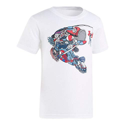 Under Armour Boys' Toddler Graphic SS Tee Shirt, White-S19 2T