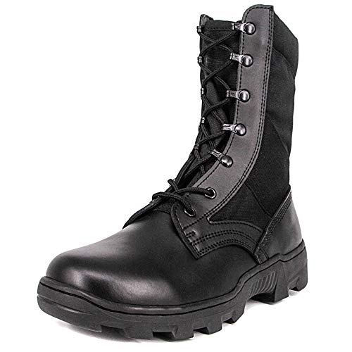 (Milforce Men's 9 inch Military Jungle Boots Lightweight Speedlace Tactical Combat Shoes, Black (9 D(M) US))