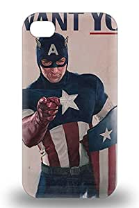 Iphone 4/4s Hollywood Captain America The First Avenger Captain America Sci Fi Adventure Action Tpu Silicone Gel 3D PC Case Cover. Fits Iphone 4/4s ( Custom Picture iPhone 6, iPhone 6 PLUS, iPhone 5, iPhone 5S, iPhone 5C, iPhone 4, iPhone 4S,Galaxy S6,Galaxy S5,Galaxy S4,Galaxy S3,Note 3,iPad Mini-Mini 2,iPad Air )