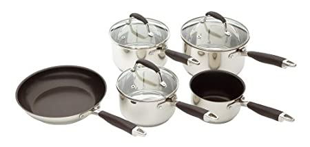 Kitchen Craft Touch Stainless Steel Five Piece Set Amazon Co Uk