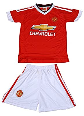 2015/2016 MANCHESTER UNITED #10 ROONEY Home Kids Soccer Jersey & Shorts Youth Sizes
