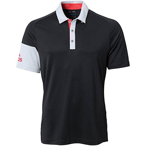 (Adidas ClimaCool Sleeve Blocked Polo   Black   XL )