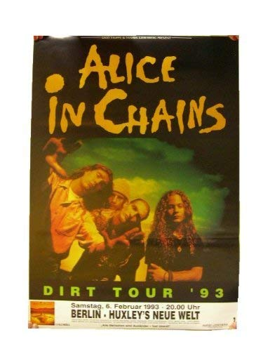 Band Gig Posters - Faverlkujj Alice in Chains Poster Concert Gig Band Shot Berlin