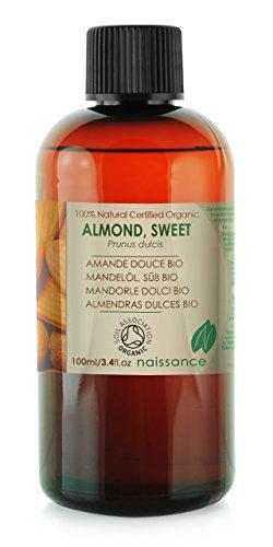Bio Mandelöl - 100% reines kaltgepresstes Öl - Organisch zertifiziert - 100ml