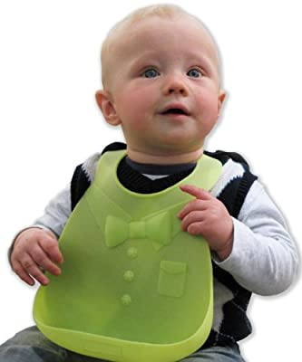 Best Baby Bib-Waterproof Silicone Easily Wipes Clean! Bonus Baby Temperature Spoon-Comfortable soft for Babies and Toddlers- Spend Less Time Cleaning after Meals - BPA Free and FDA Approved Bibs