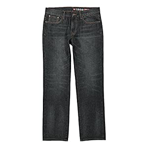 IZOD Men's Straight Fit Jean, Deep Ocean, 32W x 36L