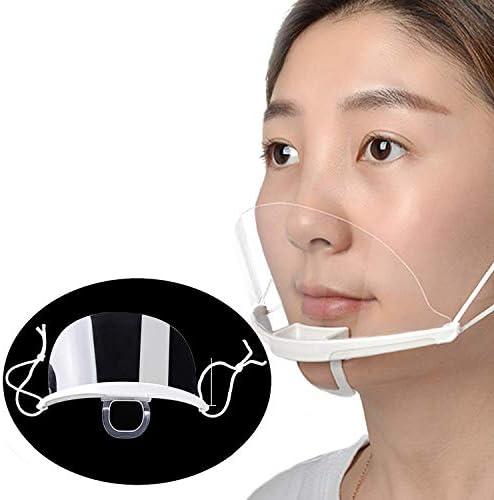 10PCS Transparent Plastic Reusable Mouth Shield Mouth Guard Cover Food Maker