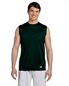 New Balance N7117 Mens Ndurance Athletic Workout T-Shirt - Forest Green - L
