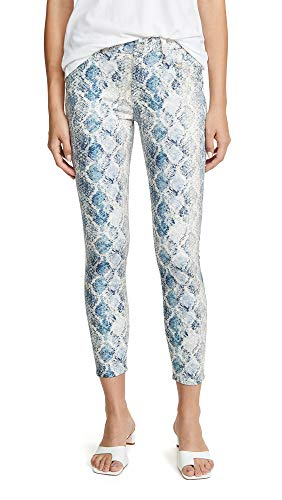 7 For All Mankind Women's The Ankle Skinny Jeans, Indigo Snake Print, 28
