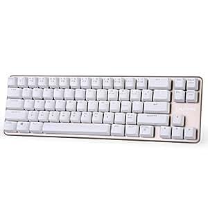 qisan mechanical keyboard gaming keyboard blue switch 68 keys mini design 60. Black Bedroom Furniture Sets. Home Design Ideas