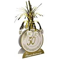 Accesorio de la fiesta de la pieza central del 50 aniversario (1 conteo) (1 /Pkg)