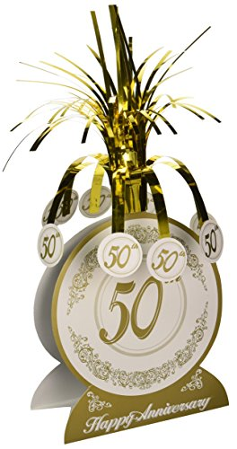 50th Anniversary Centerpiece Party Accessory (1 count) (1/Pkg) (Centerpiece Anniversary 50th)