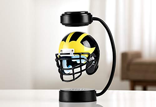 Michigan Wolverines NCAA Hover Helmet - Collectible Levitating Football Helmet with Electromagnetic Stand