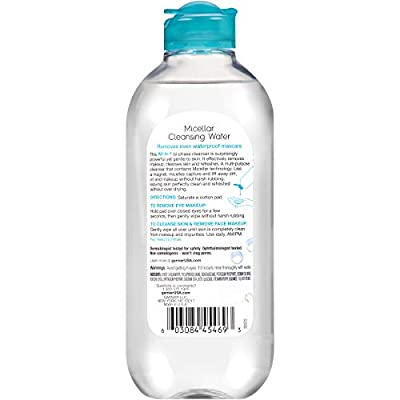 Garnier SkinActive Micellar Cleansing Water, For Waterproof Makeup, 13.5 Fl Oz