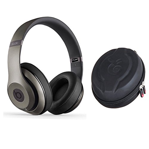 Beats Studio wireless headphone and Premium EVA Protective Case (TITANIUM) by HonoBono
