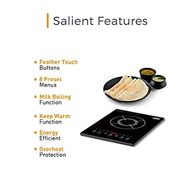 KENT - 16036 Induction Cooktop KAG-01 2000-Watt (Black) 11