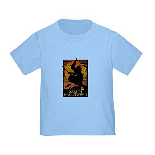 CafePress Salem Halloween Toddler T-Shirt Cute Toddler T-Shirt, 100% Cotton Baby Blue ()