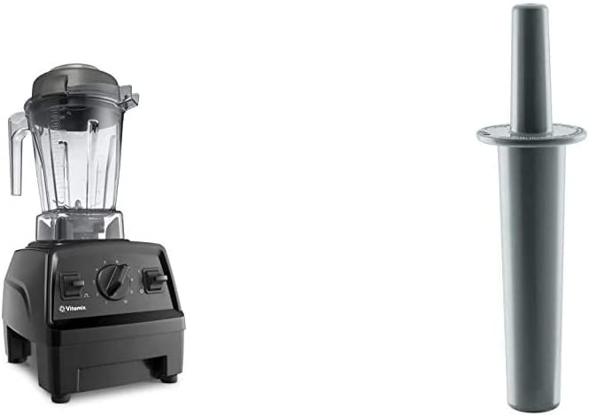 Vitamix E310 Explorian Blender, Professional-Grade, 48 oz. Container, Black & Mini-Tamper, 9.75 inches, Black