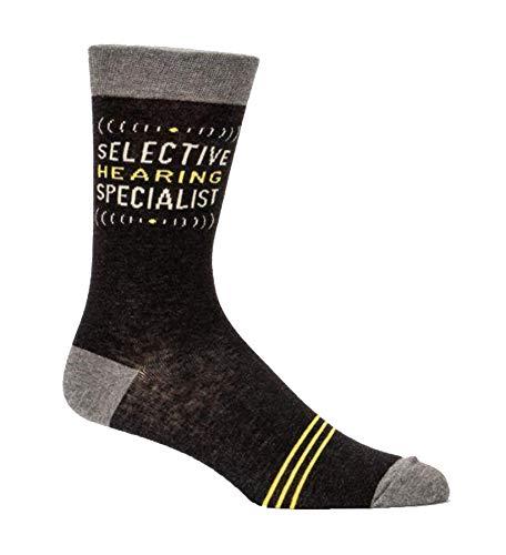 Blue Q Socks, Men's Crew, Selective Hearing Specialist, Size 7-12 ()