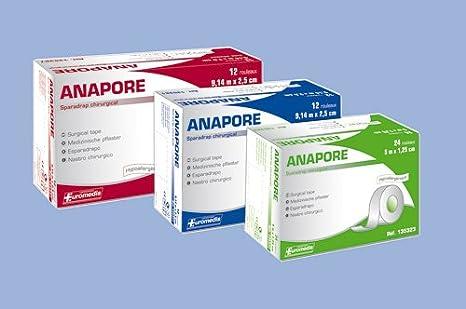 Esparadrapo microporoso sin Dispensador de 9,14 m x 2,5 cm, lote de 12 unidades: Amazon.es: Salud y cuidado personal