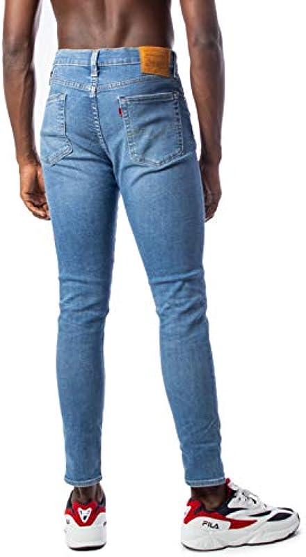 Levi's 519 Extreme Eng męskie dżinsy o wąskim kroju, niebieskie: Odzież