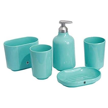 Estilo rústico Resina 5 piezas cerámica Juego de accesorios para el baño, accesorios para baño