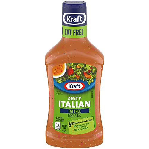 Kraft Fat Free Zesty Italian Dressing (16 oz Bottle)