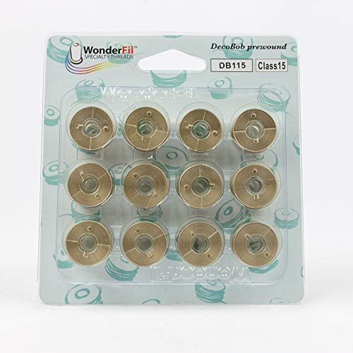 (WonderFil, Specialty Threads, DecoBob, Pre-Wound Bobbins, Class 15 - Taupe)