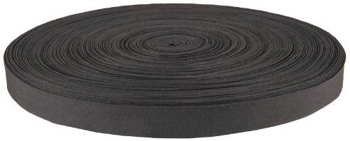 Bulk Nylon Strap (7/8 Inch Black Nylon Binding Closeout, 5 Yards)