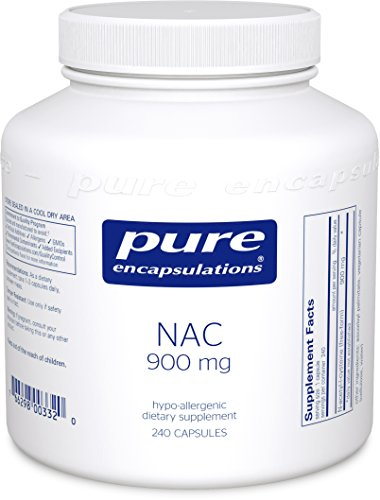 Pure Encapsulations - NAC (N-Acetyl-L-Cysteine) 900 mg - Amino Acids to Support Antioxidant Defense and Healthy Lung Tissue - 240 Capsules by Pure Encapsulations