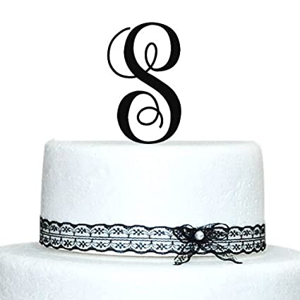 amazon com monogram cake toppers unique wedding cake toppers 5