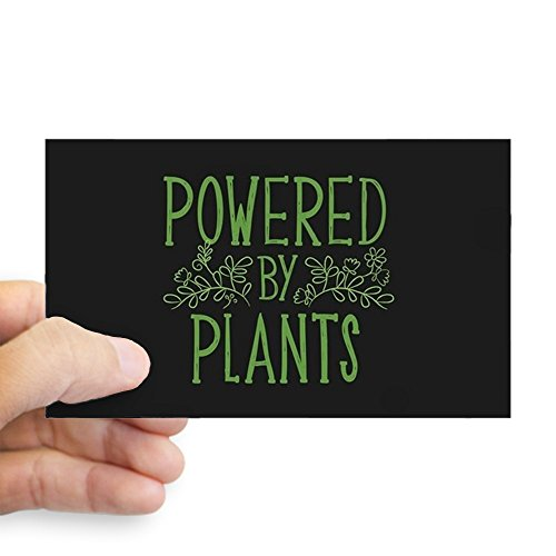 (CafePress Powered by Plants Rectangle Bumper Sticker Car Decal)