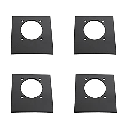 DC carga Mall 4-Pack negro remolque montaje Backplates para D ...