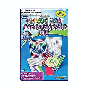 Rite Lite TYK-MOSAIC Chanukah Foam Mosaic Kit Hanukkah Foam