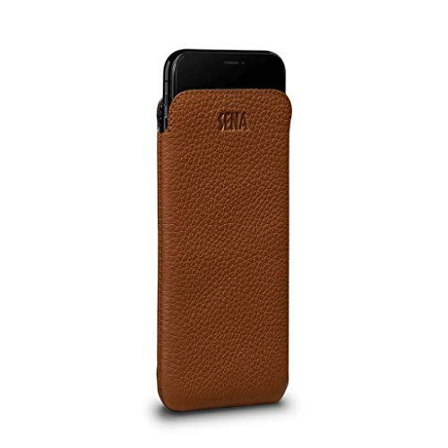 - UltraSlim Leather Sleeve Case for iPhone Xs & X (Tan)