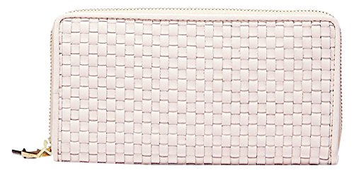 e Woven Continental Wallet, Peach Blush, One Size ()