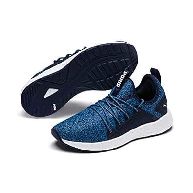 PUMA Boys NRGY Neko Knit JR Outdoor Multisport Training Shoes, Peacoat-Bonnie Blue-puma White, 4 US