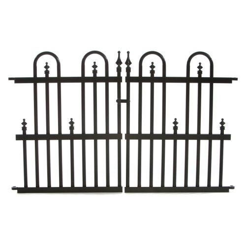Specrail Roxbury ROXBURY24G Aluminum Garden Fence Gate Panel, 24 by 36-Inch, (Wrought Iron Aluminum Fence)