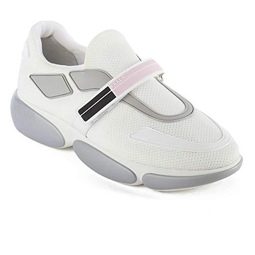 Prada Women's Fabric Cloudbust Sneaker Shoes White