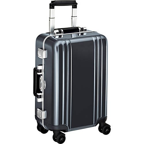 Classic Polycarbonate Carry On 4 Wheel Spinner Travel Case Gun Metal (GM)