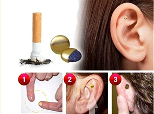 Foreverstore Magnetic Therapy Quit Stop Smoking Smoke Ear Auricular Magnet Magnetic Therapy Loss Weight (Stop Smoking Kit)