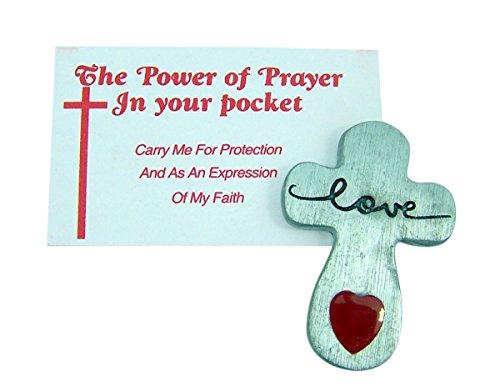 Pocket Token Pewter Finish Inspirational Love Cross, 1 1/2 ()